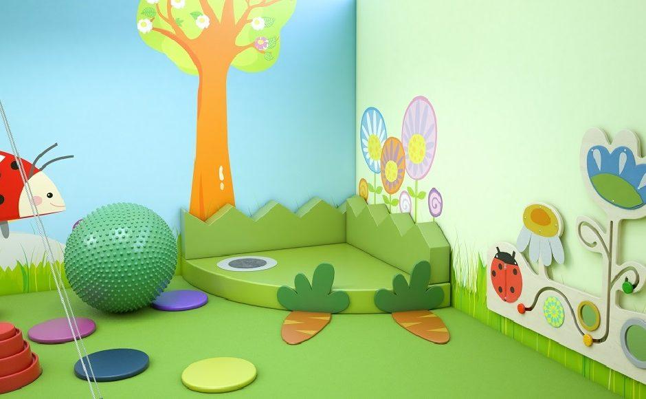 Sala Si z bezpiecznym materacem i ściankami manipulacyjno sensorycznymi
