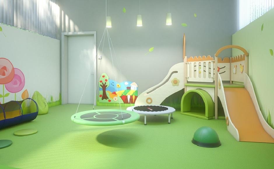 Sala Si z dużym kącikiem do zabaw ruchowych