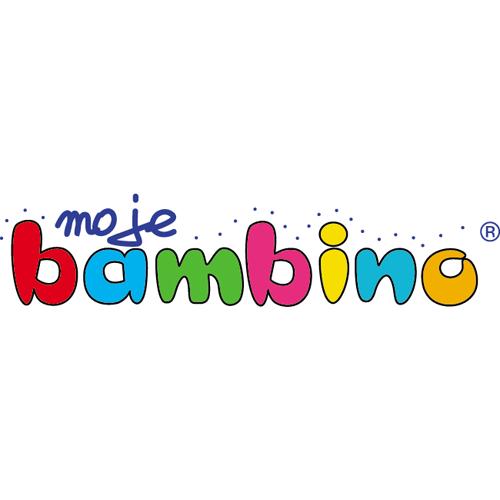 Logotyp firmy Moje Bambino, lidera na rynku wyposażenia placówek oświatowych
