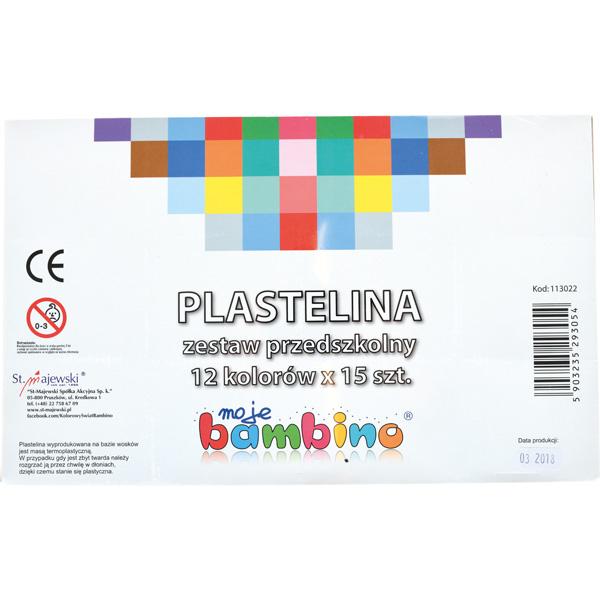 Zestaw 13 kolorów plasteliny do ćwiczeń sensorycznych